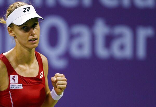 Елена Дементьева во время матча против Сафиной на итоговом турнире WTA в Дохе