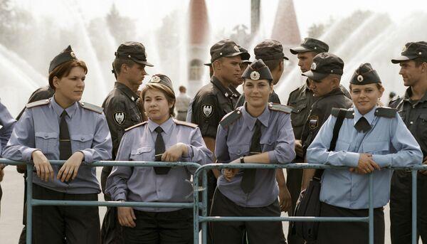 Сотрудники Московской милиции
