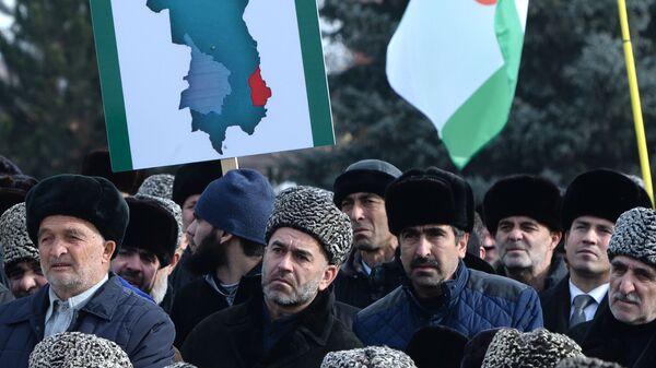 Митинг за отмену соглашения о границе между Ингушетией и Чечней