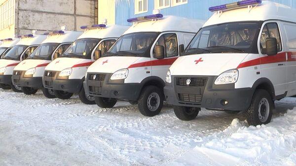 Десять новых машин скорой медицинской помощи, поступивших на Камчатку
