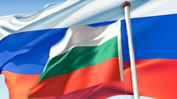 Флаг России и Болгарии