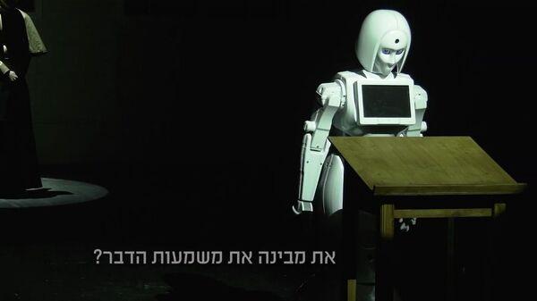 Кадр из видео театра Гешер к спектаклю Лолита / Жанна д`Арк