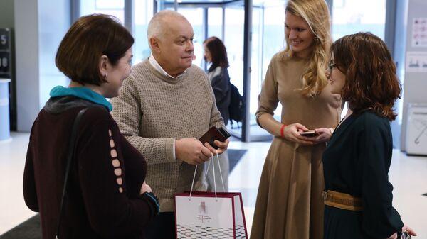 Генеральный директор МИА Россия сегодня Дмитрий Киселев на презентации нового проекта РИА Новости в формате дополненной реальности. 9 декабря 2018