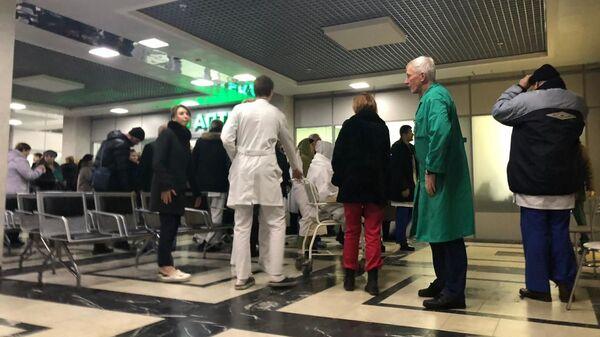 Эвакуация в институте Склифосовского в Москве. 10 декабря 2018