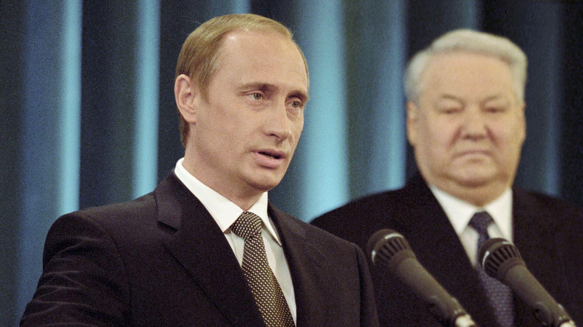 Владимир Путин дает присягу Президента Российской Федерации. Май 2000  - РИА Новости, 1920, 07.05.2021