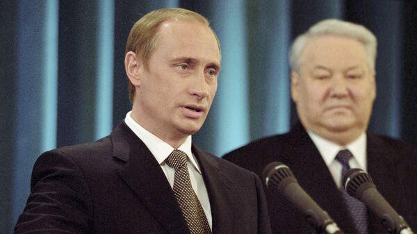 Владимир Путин дает присягу Президента Российской Федерации. Май 2000