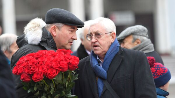 Борис Михайлов (справа) и президент Федерации хоккея России Владислав Третьяк