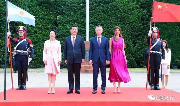 30 ноября - 2 декабря.  Аргентина. Си Цзиньпин с супругой Пэн Лиюань и президентская чета Аргентины.