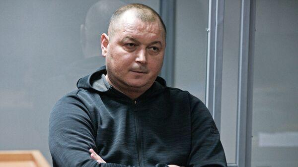 Капитан сейнера Норд Владимир Горбенко  в Оболонском суде Киева. 12 декабря 2018