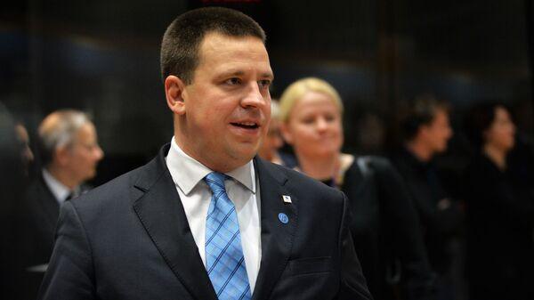 Премьер-министр Эстонии Юри Ратас на саммите ЕС в Брюсселе. 14 декабря 2018