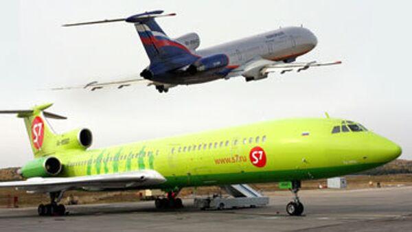 Самолеты авиакомпании Сибириь и Аэрофлот