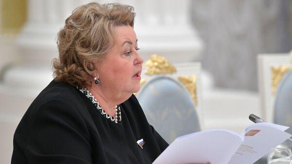 Зинаида Драгункина на заседании в Кремле Совета при президенте РФ по реализации государственной политики в сфере защиты семьи и детей
