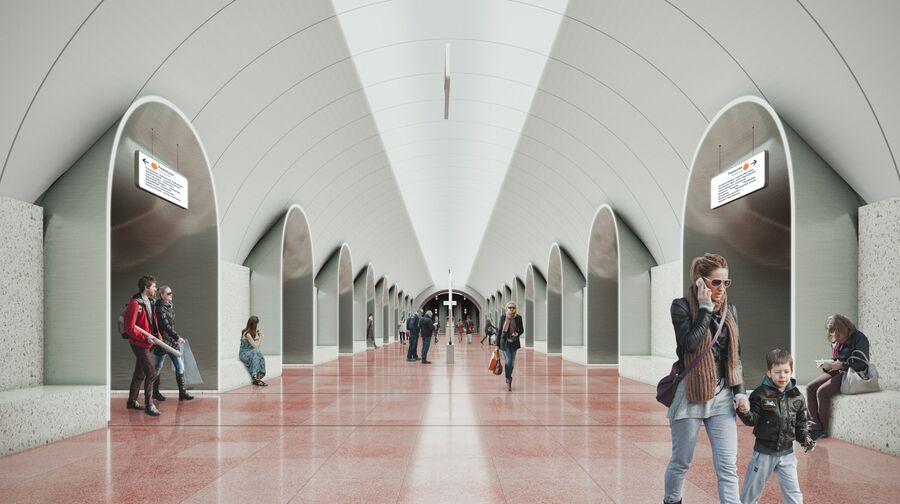 Станция московского метро Ржевская
