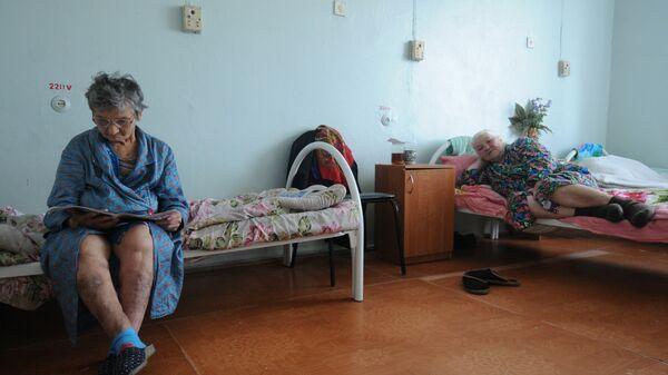 Пациентки Шимской центральной районной больницы в одной из палат учреждения