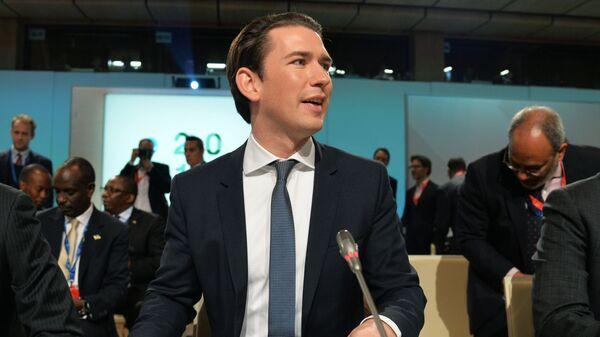 Канцлер Австрии Себастьян Курц на форуме Африка-Европа в Вене. 18 декабря 2018