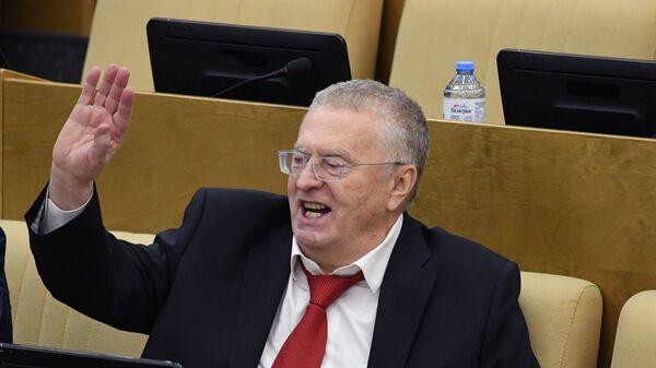 Владимир Жириновский на пленарном заседании Государственной думы РФ. 19 декабря 2018