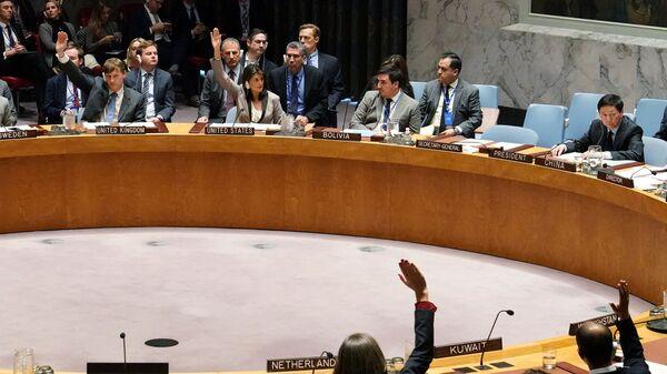 Голосование по ситуации в Крыму в штаб-квартире ООН в Нью-Йорке
