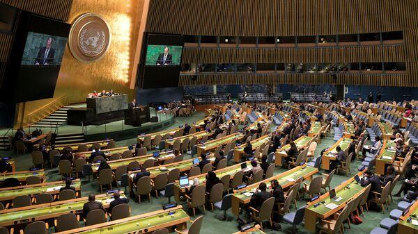 Заседание Генеральной Ассамблеи ООН в Нью-Йорке, США
