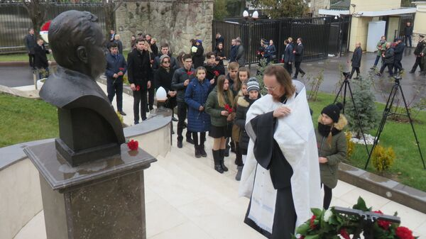 Церемония в память о погибшем после РФ в Турции Карлове в Анкаре, Турция. 19 декабря 2018