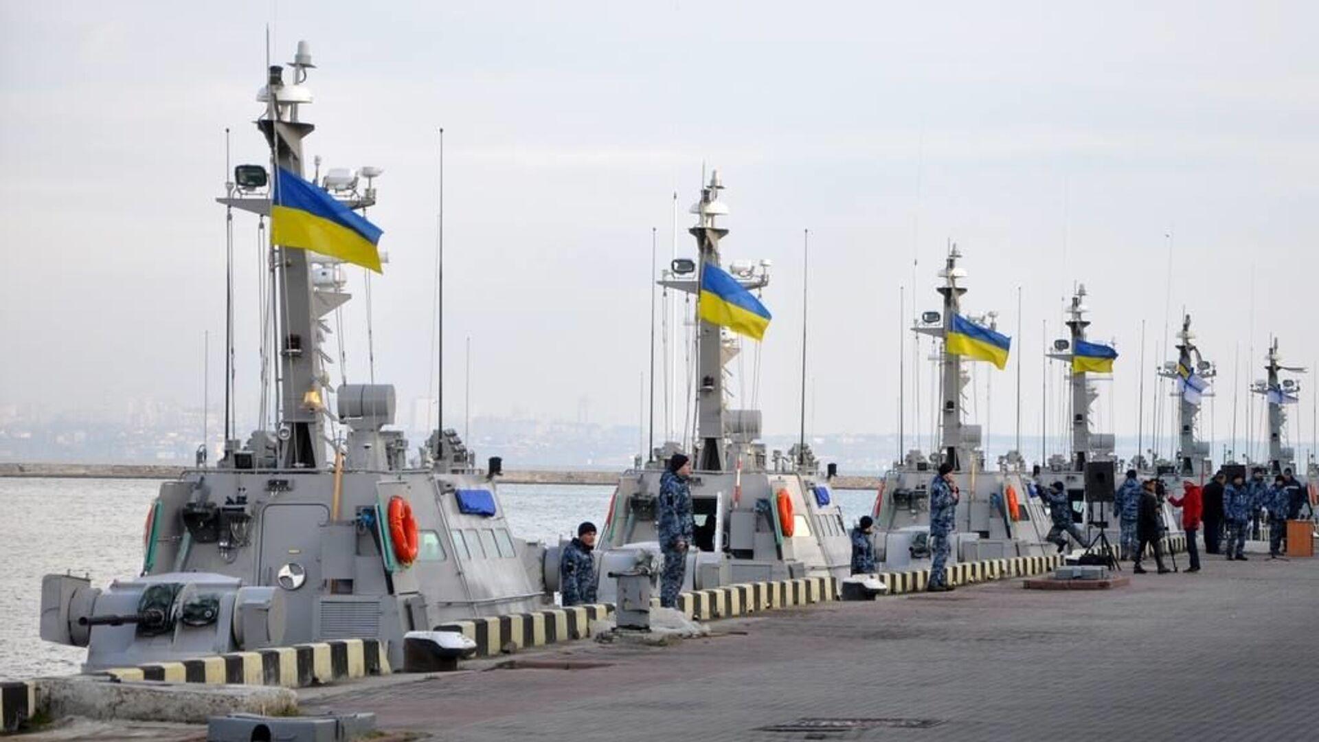 Катера ВМС Украины в порту Одессы - РИА Новости, 1920, 21.10.2020