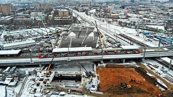 Строительство станции БКЛ Рязанская