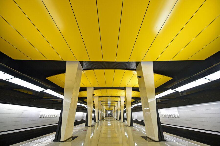 Платформа станции Шелепиха Большой кольцевой линии Московского метрополитена