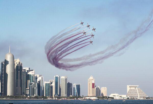 Празднование Национального дня Катара в Дохе