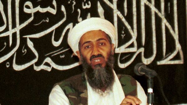 Усама бен Ладен во время пресс-конференции в Афганистане. 1998 год