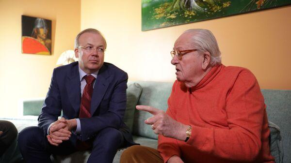 Жан-Мари Ле Пен и Андрей Назаров во время встречи