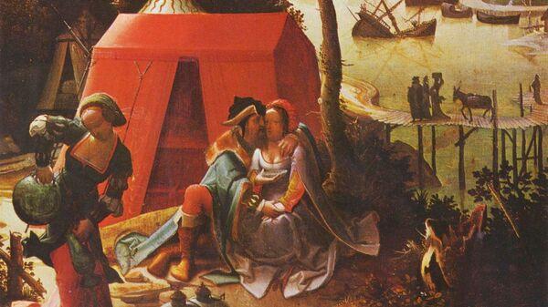 Картина Лот с дочерьми Лукаса ван Лейдена. Около 1509 года, Лувр, Париж