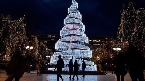Рождественская елка в Афинах