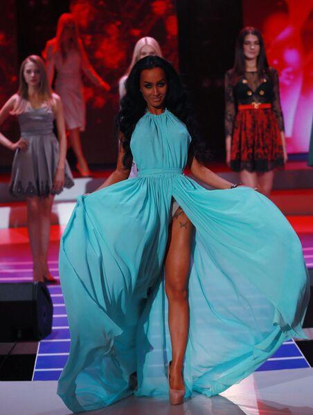 Участницы конкурса красоты Мисс Москва 2018. На первом плане: Елизавета Чайкина
