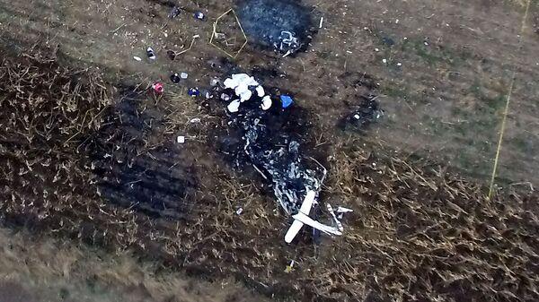 Место падения вертолета в Мексике, на борту которого находились губернатор штата Пуэбла  Марта Эрика Алонсо и ее муж, сенатор Рафаэль Морено Валье. 24 декабря 2018