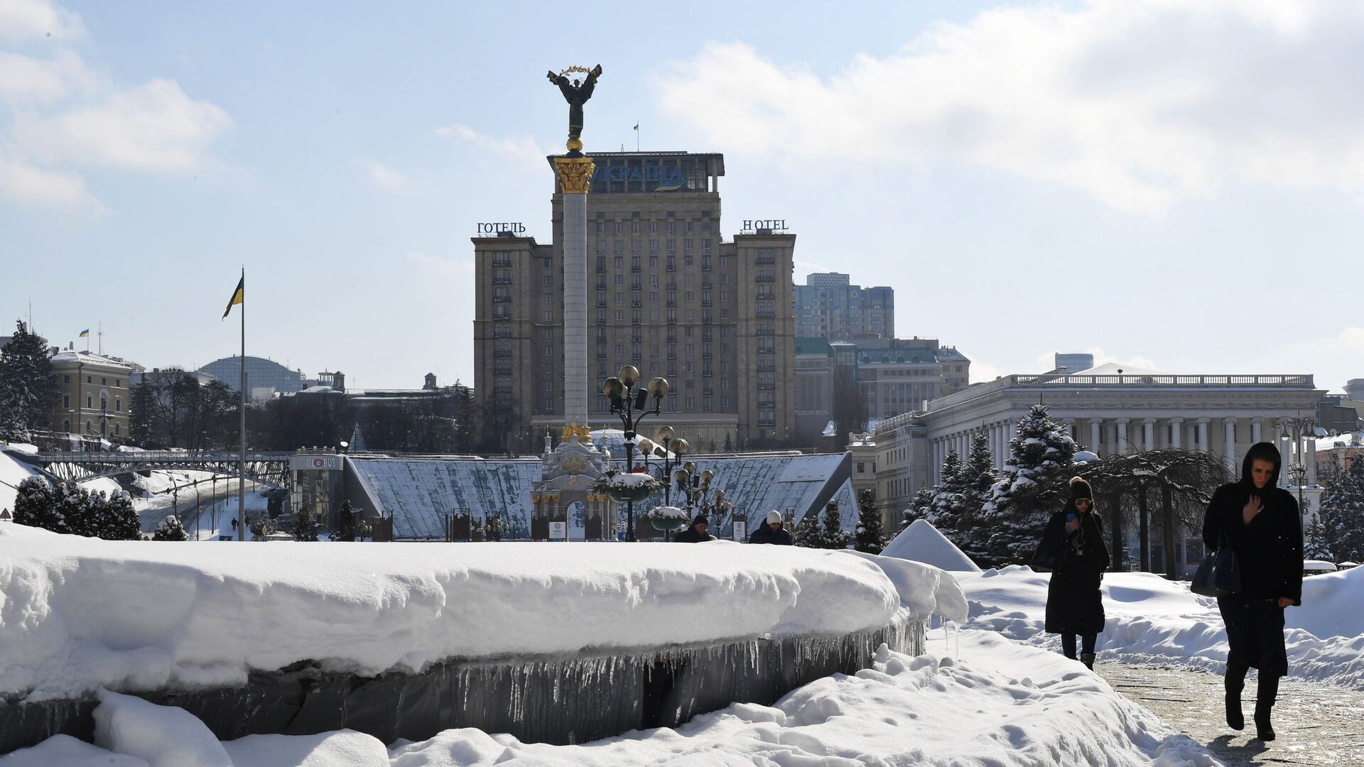 Вид площади Независимости в Киеве - РИА Новости, 1920, 03.03.2021
