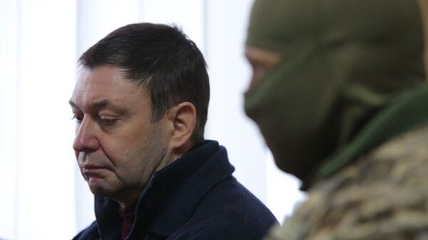 Руководитель портала РИА Новости Украина Кирилл Вышинский на заседании Херсонского городского суда