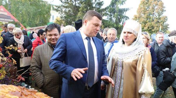 Главы администрации Тамбовской области Александр Никитин на VIII международной Покровской ярмарки в Тамбове