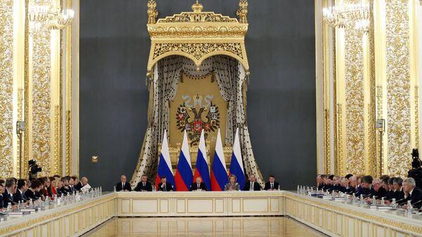 Президент РФ Владимир Путин проводит заседание Государственного совета. 27 декабря 2018