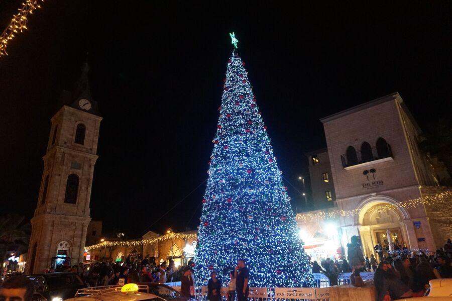 Новогодняя елка в Тель-Авиве