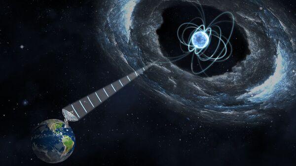 Магнетар, вырабатывающий быстрые радиовспышки