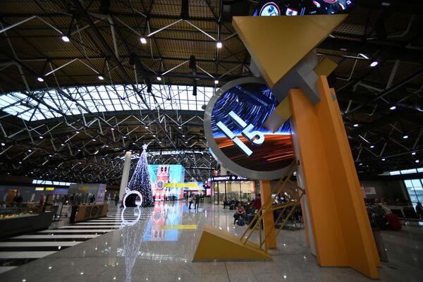 Зал вылета терминала В аэропорта Шереметьево