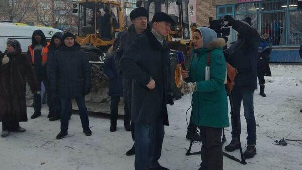 Ситуация на месте обрушения подъезда в жилом доме в Магнитогорске. 31 декабря 2018