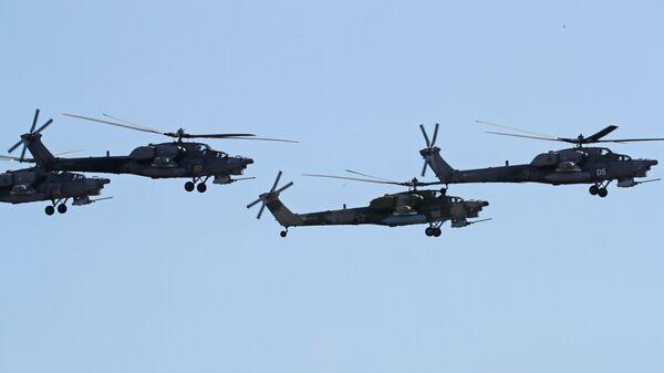 Показательные выступления группы высшего пилотажа Беркуты на ударных вертолетах Ми-28Н Ночной охотник