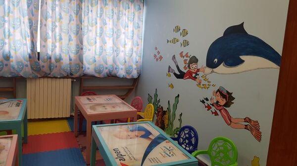 Детская игровая комната имени Доктора Лизы в госпитале Тишрин в сирийском городе Латакия