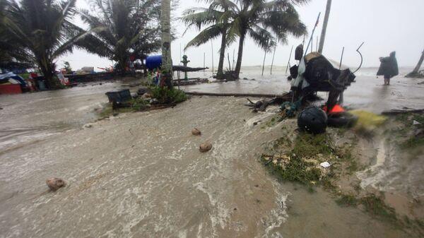 Приближение шторма Пабук в Таиланде. 4 января 2019