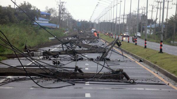 Приближение шторма Пабук в Таиланде
