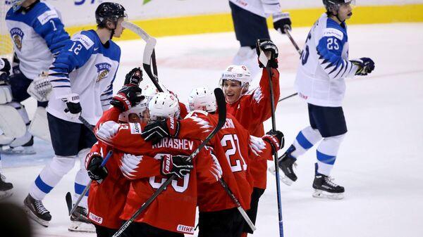 Хоккей. Молодежный чемпионат мира. Матч Финляндия - Швейцария