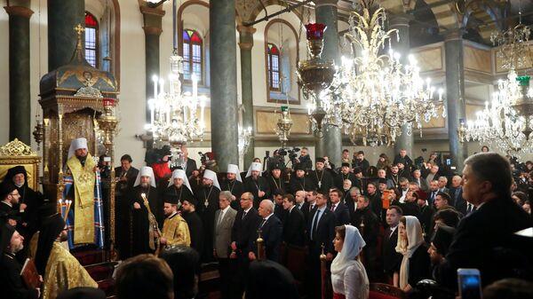 Молебен в храме Святого Георгия в Стамбуле. 5 января 2019