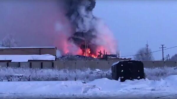 Пожар на Оренбургском заводе промышленного цинкования