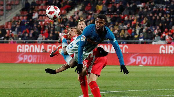 Игровой момент матча Жирона - Атлетико (Мадрид)