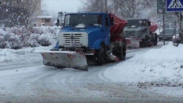 Уборка снега в ДНР